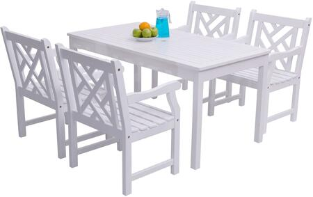 Vifah V1336SET8 Traditional Rectangular Shape Patio Sets