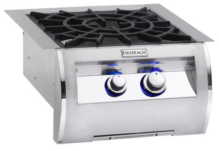 "FireMagic 194B2X0 Diamond 19"" Power Burner with Porcelain Cast Iron Grid, Up to 60,000 BTUs"