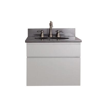 Avanity TRIBECA-V-CG Tribeca Wall Mounted Vanity Only with 1 Soft Closed Drawer, Mounting Hardware, Poplar Solid Wood and Plywood, in Chilled Grey