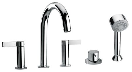 Jewel Faucets 14109XX Two Lever Handle Roman Tub Faucet and Hand Shower With Classic Spout