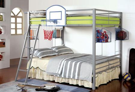 Furniture of America CMBK927BSKT Athlete Series  Full Size Bunk Bed