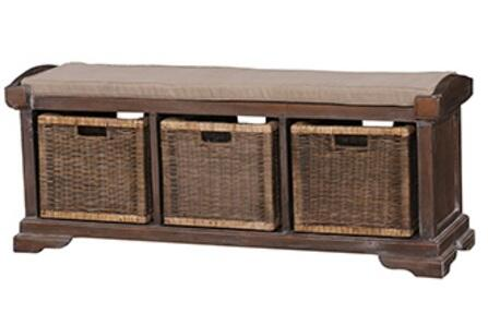 Bramble 23938 Homestead Series Accent Armless Wood Fabric Bench