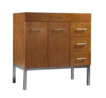 "Ronbow 037031-6L- Venus 31"" Wood Vanity Cabinet with Two Doors, One Hidden Drawer, Three Side Drawers and Metal Legs:"