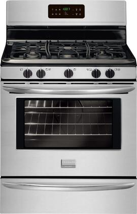 "Frigidaire FGGF3030PF 30"" Gallery Series Gas Freestanding Range with Sealed Burner Cooktop, 5 cu. ft. Primary Oven Capacity, Storage in Stainless Steel"