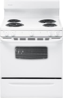 "Frigidaire FFEF3009PW 30"" Electric Freestanding Range with Coil Element Cooktop, 4.2 cu. ft. Primary Oven Capacity, Storage in White"
