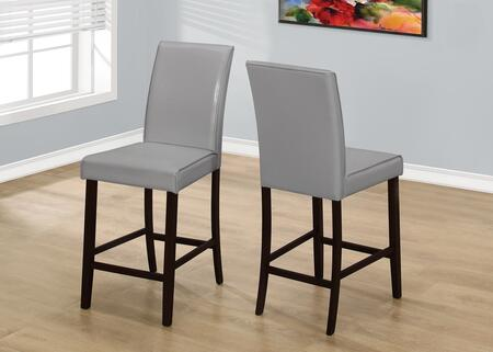 """Monarch I 190X 40"""" 2 PCS Dining Chair with Tapered Legs, Contemporary Style and Upholstered"""