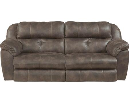 """Catnapper Ferrington Collection 61891- 90"""" Power Lay Flat Reclining Sofa with Power Headrest, Padded Polyester Fabric and Decorative Luggage Stitching in"""