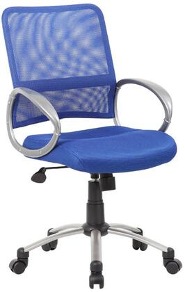 """Boss B6416 39"""" Task Chair with Mesh Back, Pewter Finished Loop Arms, Adjustable Tilt Tension Control, Gas Lift Height Adjustment, and Metal Pewter Finished Base"""
