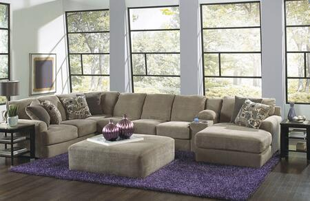 "Jackson Furniture Malibu Collection 3239-62-30-88-76- 172"" 4-Piece Sectional with Left Arm Facing Section with Corner, Armless Sofa, Console with Entertainment and Right Arm Facing Chaise in"