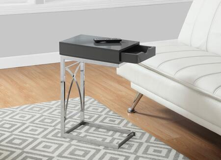 """Monarch I 317X 16"""" Accent Table with Drawer, Sufficient Surface and Sturdy Chrome Metal Base"""