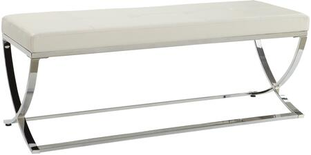 Coaster 501157 Accent Armless Metal Leather Bench