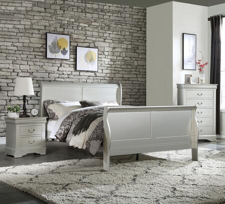 Acme Furniture Louis Philippe Iii 3 Piece Queen Size Bedroom Set