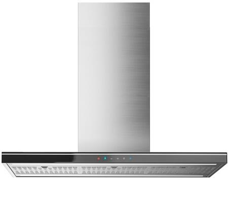 """Futuro Futuro IS36LEOLAx 36"""" Leola Black Island Range Hood with Touch Sensitive Controls, Fluorescent Lighting, Quiet Blower, Ducted/Ductless, UL & CSA Listed, in"""