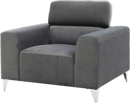 Glory Furniture G333C Suede Armchair with Metal Frame in Grey