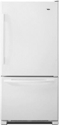 "Amana ABB2224BRW 33""  Bottom Freezer Refrigerator with 22.1 cu. ft. Capacity in White"