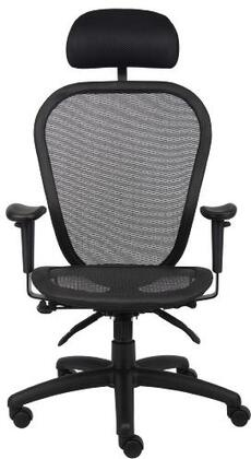 "Boss B601 40"" Multi Function Mesh Chair with 3 Paddle Multi-Function, Padded Frame, Adjustable Height,  Seat Tilt Lock, and Back Angle Locks in Black"