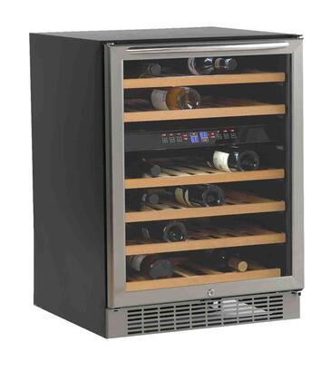 "Avanti WCR5450DZ 23.5"" Built-In and Freestanding Wine Cooler, in Black on Stainless"
