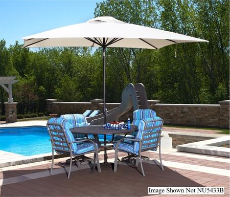 Umbrella Open, Set up with table and chairs by a Pool