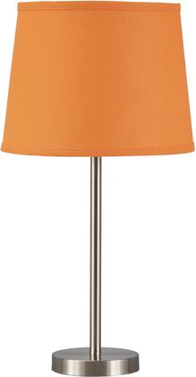 """Milo Italia Maliyah LT331130TM 23"""" Tall Metal Table Lamp with X Finished Base, Modified Drum Shade and On-Off Switch in"""