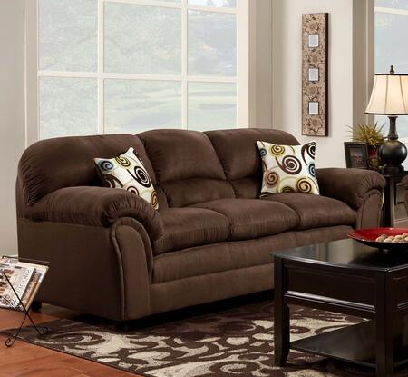 Chelsea Home Furniture 471250S Joyce Sofa with 16 Gauge Border Wire, Toss Pillows, Sinuous Springing System, Solid Kiln Dried Hardwoods and Engineered Products in