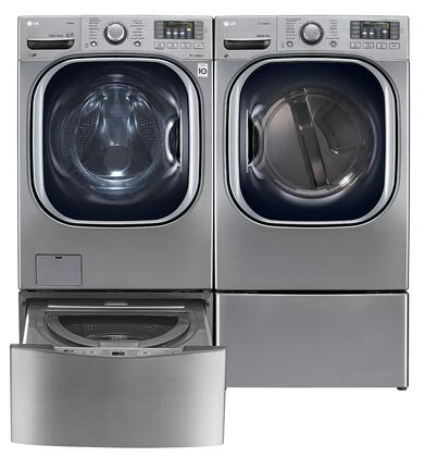 LG LG4PCFL27E2PEDSSKIT8 TurboWash Washer and Dryer Combos