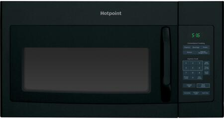 Hotpoint RVM5160DHBB 1.6 cu. ft. Over the Range Microwave Oven with 200 CFM, 1000 Cooking Watts, in Black