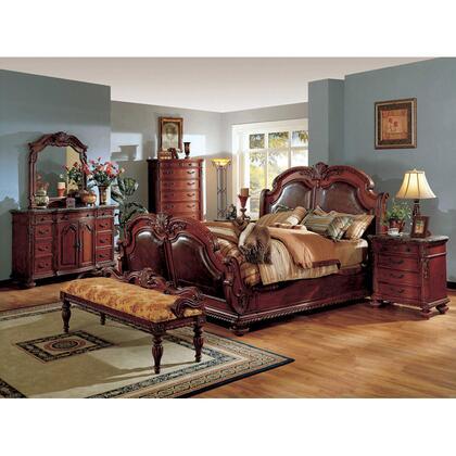 Yuan Tai PT9750QTVSET Porter Series 5 Piece Bedroom Set