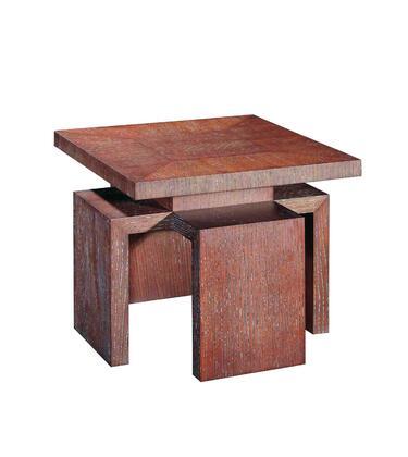 Allan Copley Designs 3050502CG Sebring Series Contemporary Square End Table
