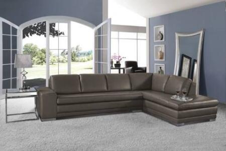 Novo Home 1540RF2PC Monterey Series Stationary Leather Sofa