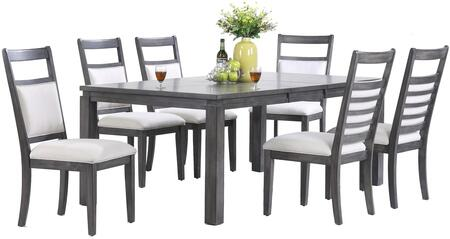 Sunset Trading DLUEL9282C907PC Shades of Gray Dining Room Se