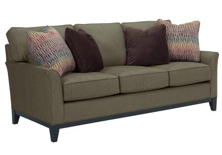 """Broyhill Perspectives Collection 4445-3 80"""" Sofa with Pillows Included, DuraCoil Reversible Seat Cushions, Non-Sag Springs and Tapered Feet in with Cognac Finish"""