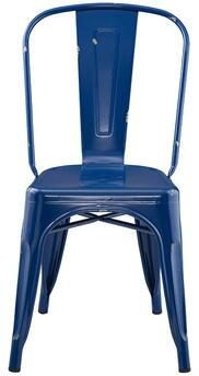 Walker Edison Stackable Metal Cafe Bistro Chair with Rubber Floor Protector Pads in