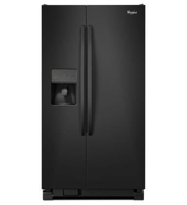 """Whirlpool WRS325FDAB 36""""  Side by Side Refrigerator with 24.5 cu. ft. Capacity in Black"""