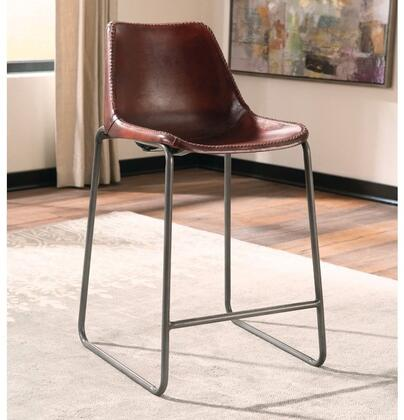 Donny Osmond Home 180228 Antonelli Series Transitional Leather Metal Frame Dining Room Chair