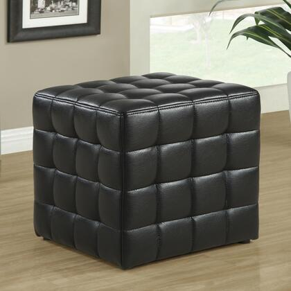 Monarch I89 Ottoman, with Square Shape, Rich Design, Tufted Cushioning, and Leather Look Upholstery