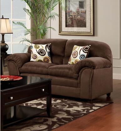 Chelsea Home Furniture 471250L Joyce Loveseat with 16 Gauge Border Wire, Toss Pillows, Sinuous Springing System, Solid Kiln Dried Hardwoods and Engineered Products in