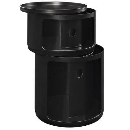 Modway EEI-1019 Orbit Storage Trash Module with Modern Design, Sliding Top, Bottom Hatch, and ABS Plastic