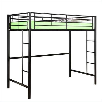 Walker Edison BTOL Sunset Metal Twin Loft Bunk Bed