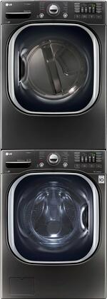 LG 714586 Black Stainless Steel Washer and Dryer Combos