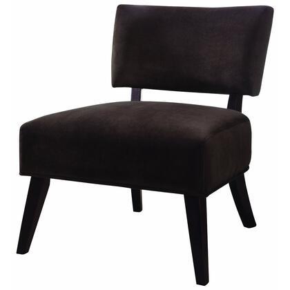 Coaster 460507 Armless Microfiber Wood Frame Accent Chair
