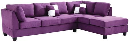 Glory Furniture G637BSC G630 Series Stationary Suede Sofa