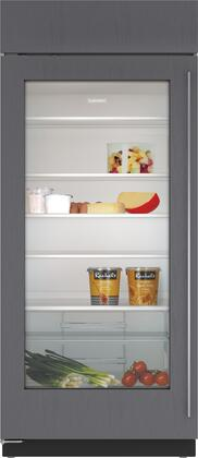 """Sub-Zero BI36RGX 36"""" Built-In All Refrigerator with UV-Resistant Glass Door, 23.4 cu. ft. Capacity, 4 Adjustable Glass Shelves, and Air Purification System, in"""