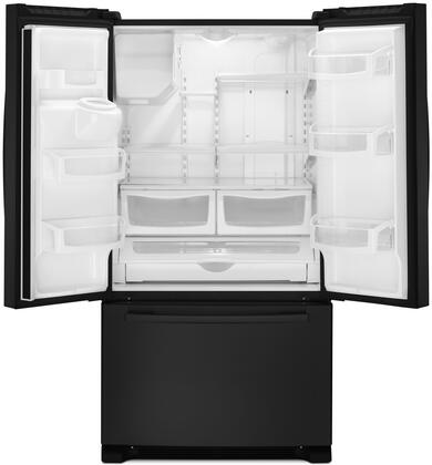 """Amana AFI2539ER 36"""" Freestanding French Door Refrigerator With 24.7 cu. ft. Total Capacity, 4 Adjustable Glass Shelves, External Water/Ice Dispenser 2 Crisper Drawers, Fast Cool, And Full-Width Pantry Drawer:"""