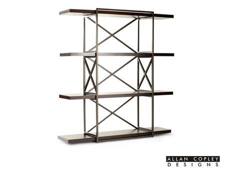 Allan Copley Designs 340410 Snowmass Series Metal 4 Shelves Bookcase