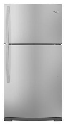 Whirlpool WRT351SFYF Freestanding Top Freezer Refrigerator with 21.1 cu. ft. Total Capacity 2 Glass Shelves 6.1 cu. ft. Freezer Capacity
