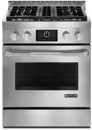 "Jenn-Air JGRP43TWP Pro-Style Gas Range with Dual-Fan Multimode True Convection System, 20000 BTU Burner, 7"" Full Color Touch Anywhere LCD Display, and Auto Convection Conversion, in Stainless Steel"