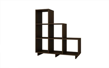 Accentuations 26AMC Accentuations by Manhattan Comfort Sophisticated Cascavel Stair Cubby with 6 Cube Shelves