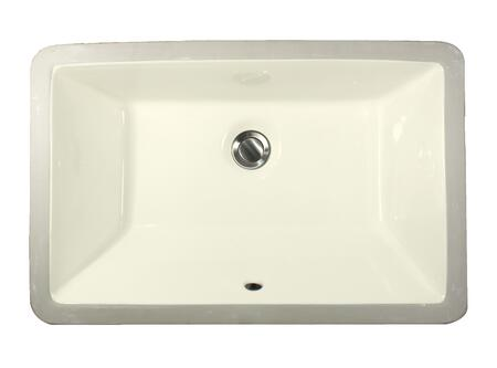 "Nantucket UM19x11 Great Point Collection 19"" x 11"" Undermount Vitreous China Ceramic Rectangle Bathroom Sink with Overflow in:"