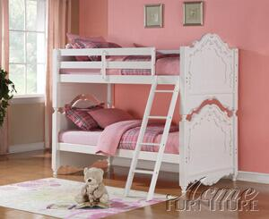 Acme Furniture 00990 Pearl Series  Twin Size BunkBed Bed