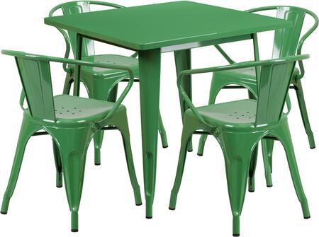 Flash Furniture ETCT002470GNGG Square Shape Patio Sets